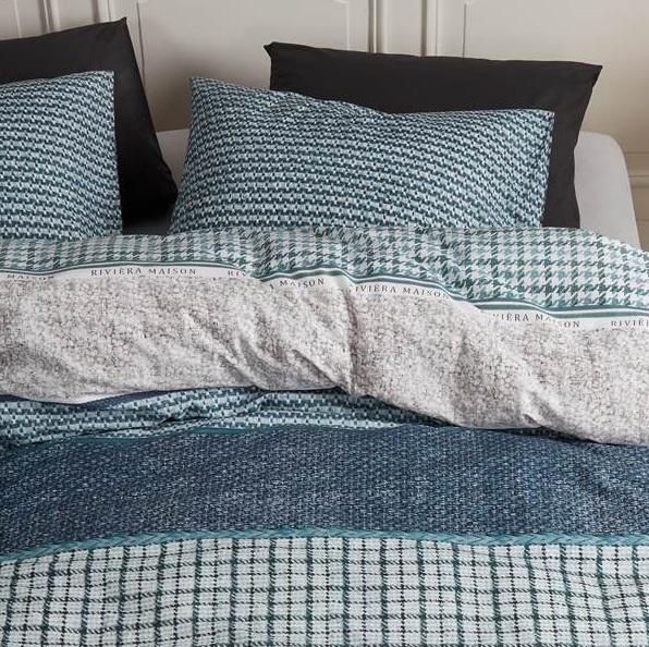 Riviera Maison dekbedovertrek Tailor Green 240x200/220--