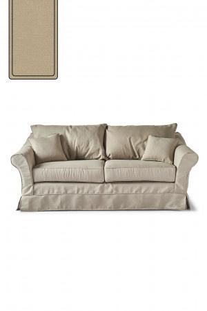 Bond Street Sofa 2.5 Seater, oxford weave, flanders flax Riviera Maison 4384005