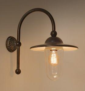 Piavon Buiten/wandlamp met loodgrijze kap Frezoli