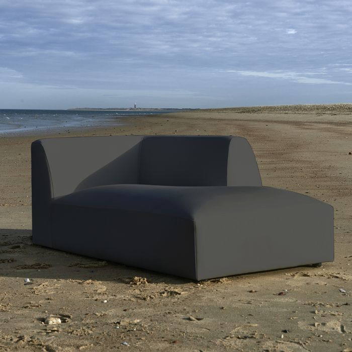 Formentera Outdoor Lounger Right Anthracite Riviera Maison 6055001