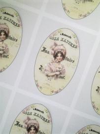 Zeepsticker Mademoiselle Rosa