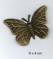 Grote decoratie Vlinder Brons