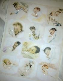 Zeepstickers 12 assortie baby