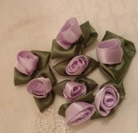 Satijn roosjes (Lila)