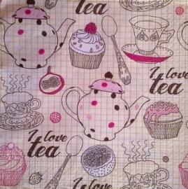 Servet **I Love Tea**