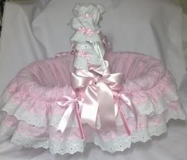 Brocante Romantische Baby Mand (Op Bestelling)