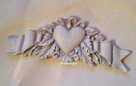 **Nieuw** Mal Ornamentje met hart