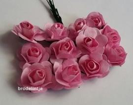 Paper roosjes Roze