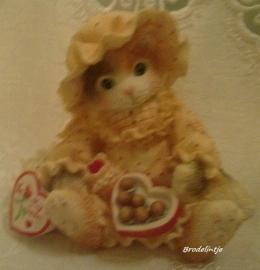 **Nieuw** Mal Brocante kitten met Aardbeien