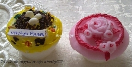 **Nieuw** Mal 2 Paascupcake`s (TOPPER)
