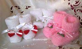 Handgebreide Babyslofjes Meisje