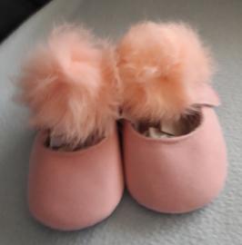 Baby schoentjes met pompoen roze