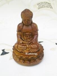 Mal Budha op Lotusbloem