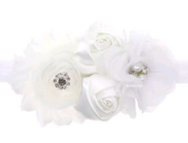 Romantisch Haarbandje Wit dubbel