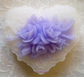 **Nieuw** Brocant zeephart met opgelegde rozen