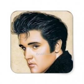Zeepsticker vierkant  *Elvis*