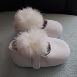 Baby schoentjes met pompoen wit