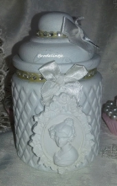 Brocante pot met Came en strass 1