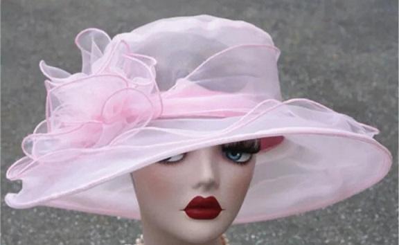 Brocante Zomerhoed roze