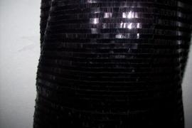 Zwart glitterjurkje maat 36/38