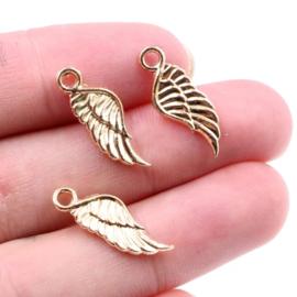 Bedel Engelenvleugeltje goud 10 mm
