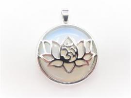 Prachtige lotusbloem hanger met Opaliet