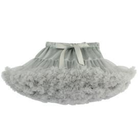 Heerlijke fluffy pettiskirt licht grijs maat 116/122/128