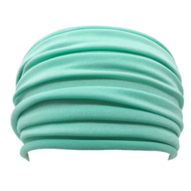 Mooie brede haarband turquoise