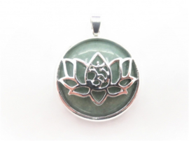 Prachtige lotusbloem hanger met Aventurijn
