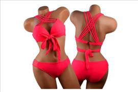 Prachtige plus size bikini rood maat 36 t/m 46