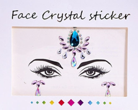 "Face Crystal sticker set ""Blauwe Bindi"""