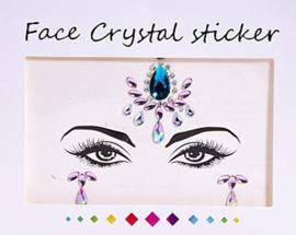 """Face Crystal sticker set """"Blauwe Bindi"""""""