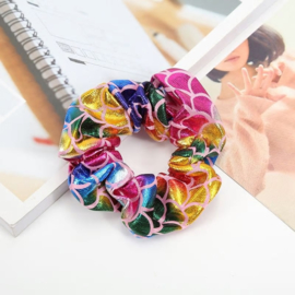 Mermaid patroon multicolorscrunchie!