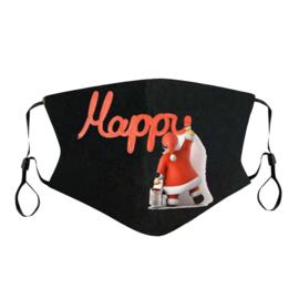 Kerst mondkapje Happy