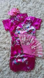 Erg leuk fuchsia Chinees jurkje