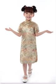 Prachtig gouden Chinees jurkje