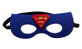 Geweldig leuk en stevig masker  superman van vilt