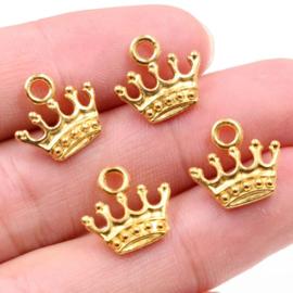 Bedel Kroontje goud 12 mm