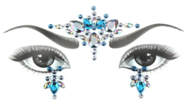 Bindi Face Jewel set blauw nr.1