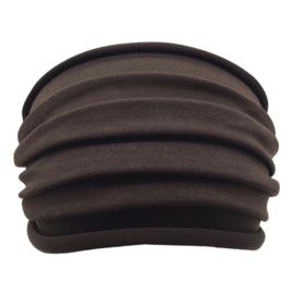 Mooie brede haarband  koffie