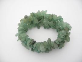 Brede armband Jade steentjes