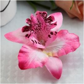 Haarclip enkele orchidee roze