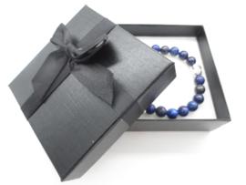 Prachtige armband van geslepen 8 mm Lapiz Lazuli  kralen en Boeddha