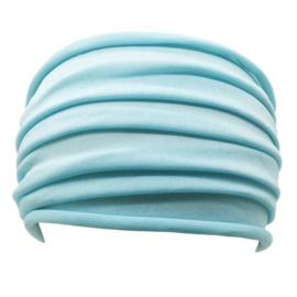 Mooie brede haarband  lichtblauw