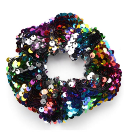 Multicolor pailletten scrunchie!
