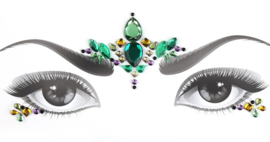 Bindi Face Jewel set groen nr.3