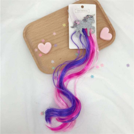 Haarclip UNICORN paars/roze