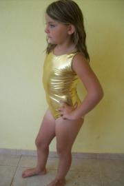 Gouden danspakje maat 122 t/m 140