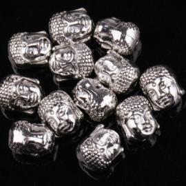 Kraal Boeddha Tibetaans zilver 10 mm