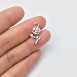 Bedel Roosje zilver 12 mm